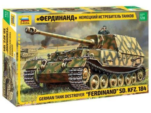 Zvezda 3653  Ferdinand  Sd.Kfz.184 German Tank Destroyer 1 35 Scale Kit