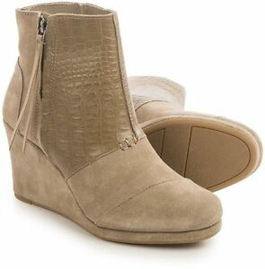 4c3371612b4 Image is loading NEW-Authentic-TOMS-Desert-Platform-Wedge-High-Bootie-