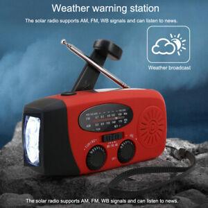 Solar-Radio-Handkurbel-Handy-Ladegeraet-Notfall-Radio-AM-FM-LED-Taschenlampe-Lot