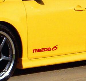 Racing Sponsors MAZDA sport car sponsor sticker emblem logo decal RED Pair