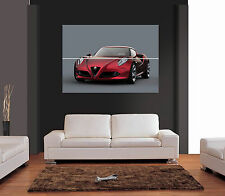 ALFA ROMEO 4C concetto AUTO Giant WALL ART PRINT PICTURE POSTER