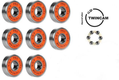 8 Stück ORIGINAL TWINCAM ILQ 9 PRO SCRS Kugellager für Skateboard Longboard usw