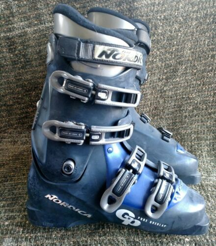 Nordica GP Pure Overlap blue ski boots size 26.5, 8.5 US mens