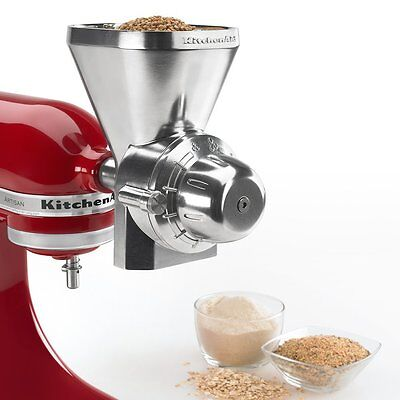 KGM KitchenAid Mixer Attachment Grain Mill Wheat Corn Grinders Flour Maker Oats