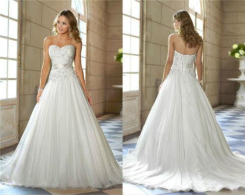 2020 White//Ivory Sweethear Wedding Dresses Bridal Gown Size 6 8 10 12 14 16 18