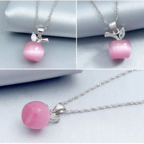 Sweet Clavicle Necklace New Girl Cute Apple Pendant Chain Christmas Jewelry Hot
