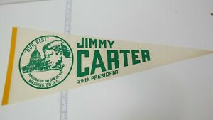 New-Vintage-1977-Jimmy-Carter-39th-President-Inauguration-Washington-D-C-Pennant