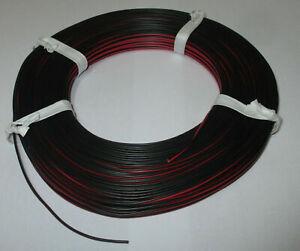 (0,279 €/m) Jumelle Lacet Rouge/noir 50 M Neuf