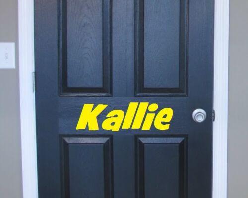 CHILD/'S NAME Bedroom Door or Window Decal ~ Choose Size /& Vinyl Color GREAT GIFT