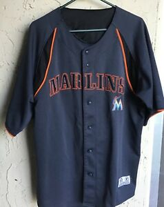 cheap for discount 44fa9 c5b63 Details about Miami Marlins Baseball Jersey~MLB~True Fan~STITCHED~ Men's  XL~Super Nice!!!