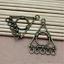 15pcs 30x24mm Argent Antique belle délicate Triangle Collier Pendentif Connecteur