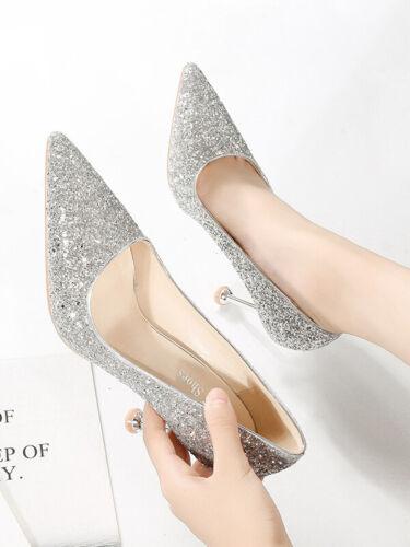 Scarpe Cm Eleganti Silver 10 Decolte Stiletto 1570 Strass Comodi Pelle Simil wIprxITq