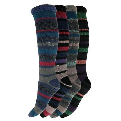 1 Ladies Thick Stripe Heat Machine® 2.3 Tog Rating Winter Thermal Socks UK 6-11