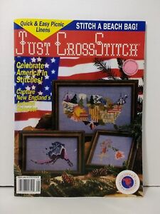 Just-Cross-Stitch-Magazine-August-1992-America-in-Stitches-Picnic-Linens