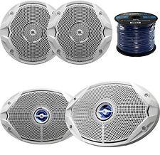 """2x JBL MS9520 6x9"""" Coaxial Marine Speakers, 2x JBL MS6510 6.5"""" Boat Speakers"""