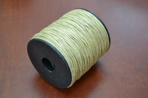 100 METER BROWN WAXED COTTON BEADING CORD STRING ROLL 2MM #F-52B