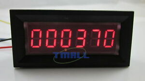 0.56inch Red LED 0~9999 4 Digital Up and Down Digital Counter Totalizer DC12V