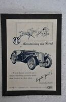 Vintage MG Car Company Ad Litho Paper Sign Board ADV EHS
