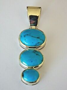 Pendentif - Turquoise - Argent - 925/1000 - NEUF *
