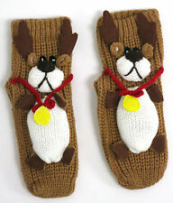 OLDER GIRLS COSY REINDEER / MOOSE SLIPPER SOCKS UK SIZE 3-5  BNWT