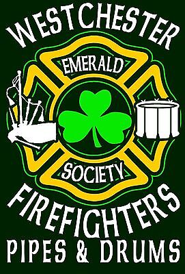 Westchester-Firefighters-Emerald-Society-Pipes-amp-Drums-T-Shirt-Long-Sleeve