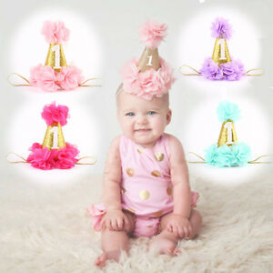 Image Is Loading Baby Girls Boys Flower Crown 1st Birthday Party