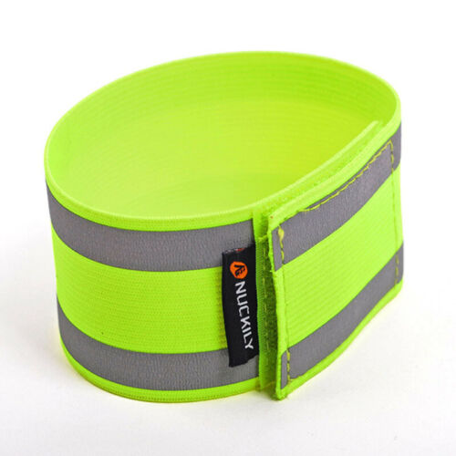Bicycle Reflective Arm Leg Bind Trouser Pant Band Strap Cycling Safety Reflector