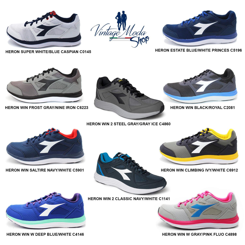 Diadora Heron Calzature Scarpa Donna Uomo Running Sport Casual Shoes