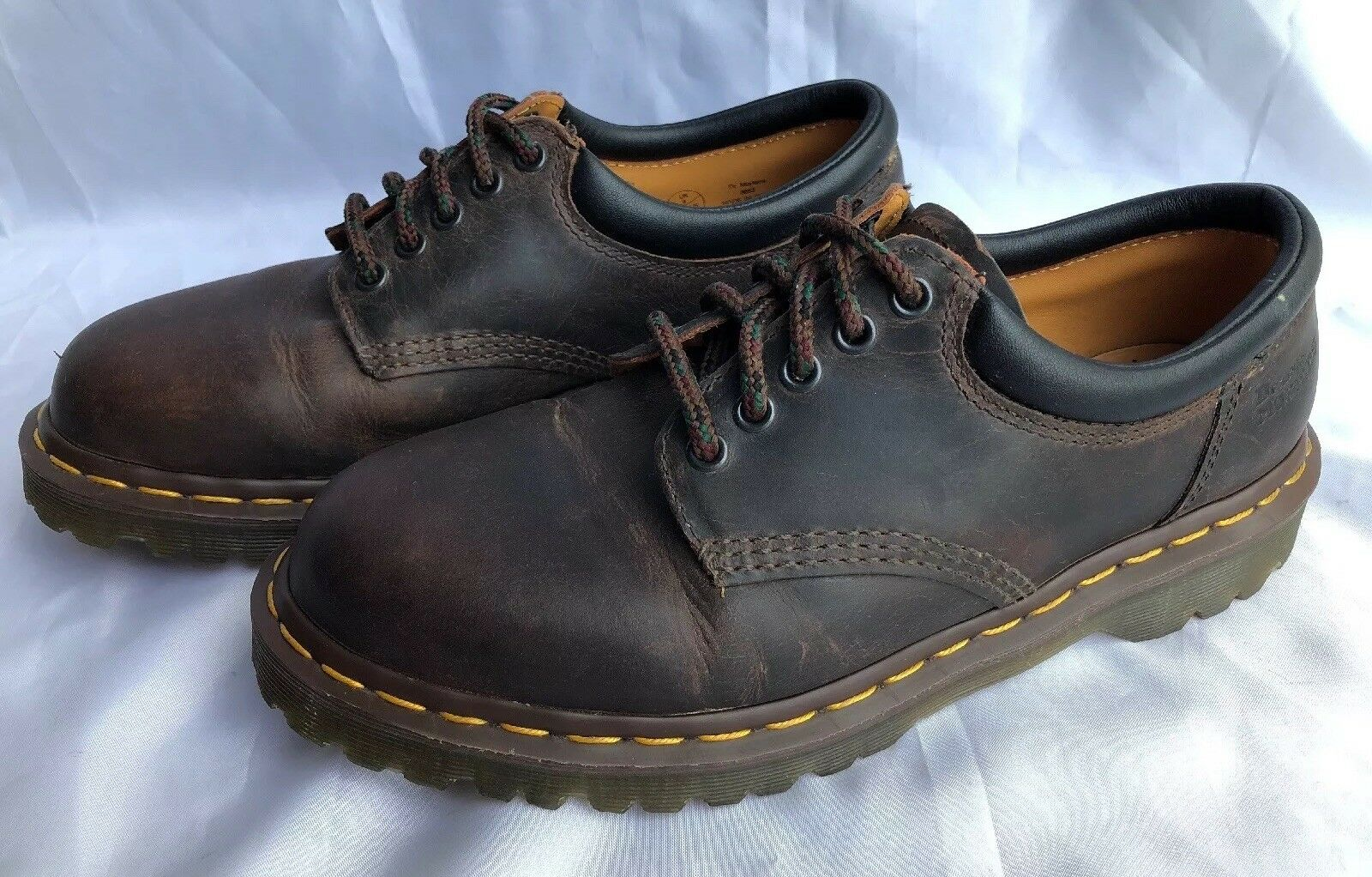Dr Martens Unisex Brown AirWair Classic Ankle Boot shoes 8053 Size US 10