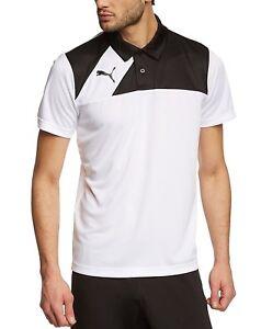 NUOVI-Pantaloncini-Uomo-Puma-Esquadra-Poliestere-Polo-T-shirt-Golf-Jersey-Top-Bianco