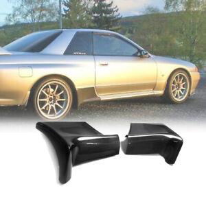 For Nissan R32 GTR TS Style Rear Spat Add On Extension Splitter Carbon Fiber