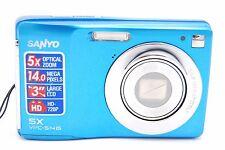 Sanyo VPC-S1415 BL 14MP 5 x Zoom Digital Camera- Blue