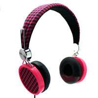 Laxmax gingham Woven Stereo Headphones - Sale