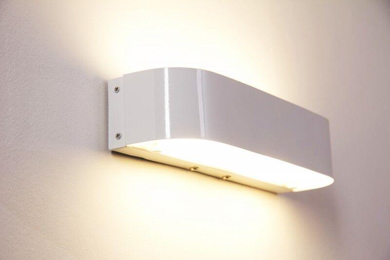 LED Wand Leuchten Design Up Down Flur Dielen Lampen Glas weiß Wohn Schlaf Zimmer | Am wirtschaftlichsten