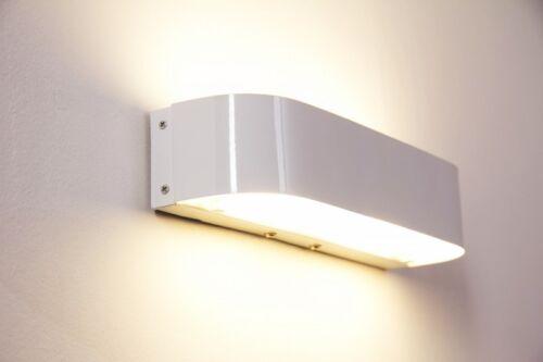 LED Wand Leuchten Design Up Down Flur Dielen Lampen Glas weiß Wohn Schlaf Zimmer