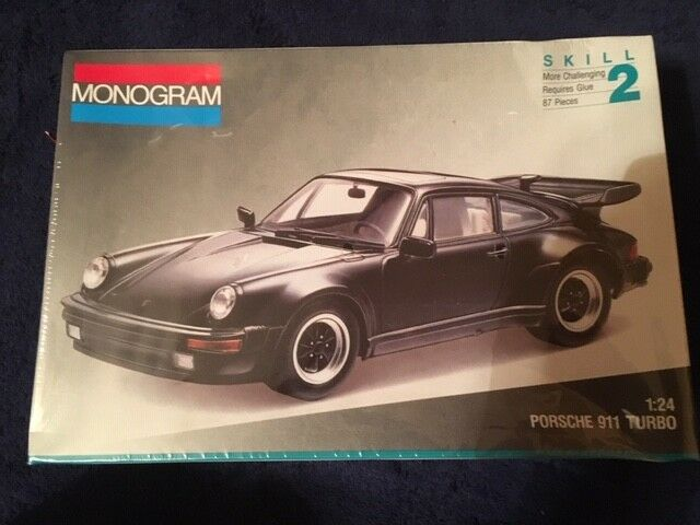 Vintage 1992 Nos Monogram Porsche 911 Turbo Toy Model Car Kit 1 24