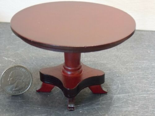 Dollhouse Miniature Round Kitchen Dining Table Mahogany 1:12 Y39 Dollys Gallery