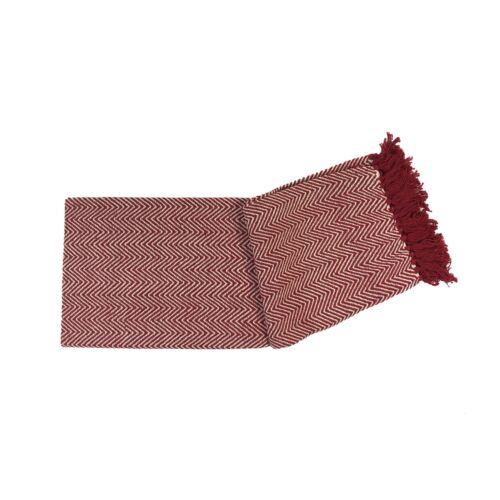 Zig Zag Chevron Rouge Tissé 100/% coton barbu Throw Blanket 127X152CM