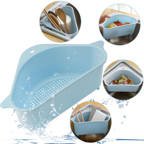 Kitchen Triangular Sink Drain Filter Strainer Basket Shelf Storage Sponge Holder