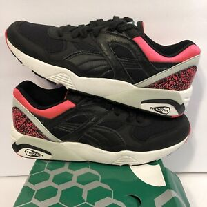 Details about Puma Trinomic R698 OG 93 Mens Sneakers Black Pink 357481 01 Mens Size 10 NEW DS