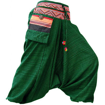 Gypsy Hippie Aladdin Hmong Baggy Genie Harem Pants Men Women Hammer Trousers