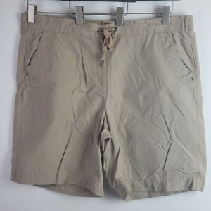 Basic Editions Women S Shorts Khaki Cotton Size Xl Ebay