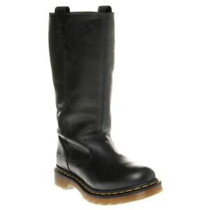6525d084e0c5c New Womens Dr. Martens Black Juney Leather Boots Knee-High Lace Up ...