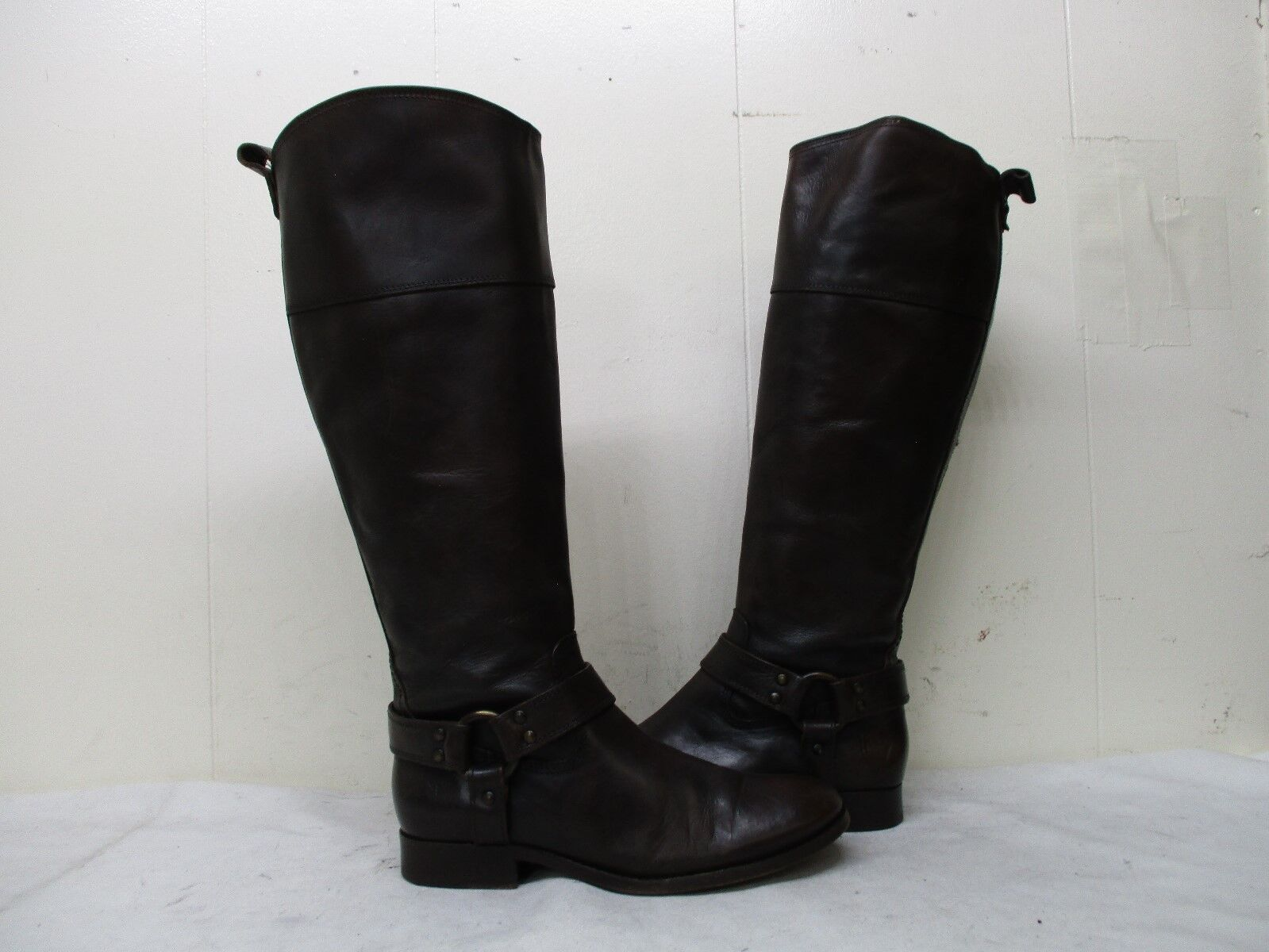 FRYE Melissa Brown Leather Zip Riding Boots Womens Size 7 B Style 76929