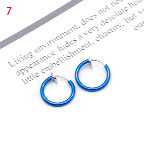 Piercing Body Jewelry Goth Punk Style Nostril Hoop Ear Clip Lip Ring Nose Ring