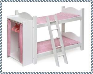 Baby Dolls Beds House Furniture Bunk Bed Loft Fits American Girl 18
