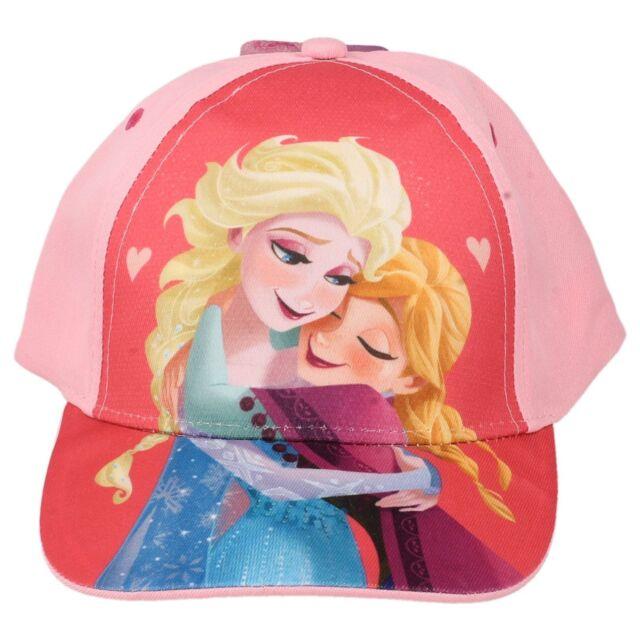 Childrens Kids Girls Disney Frozen Cap Sun Hat Velcro Pink Elsa Anna ... 8f8b5d2bfa9