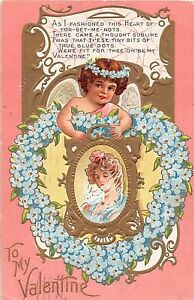 A19-Valentine-039-s-Day-Love-Holiday-Postcard-Embossed-1909-Detroit-Michigan-Nash12