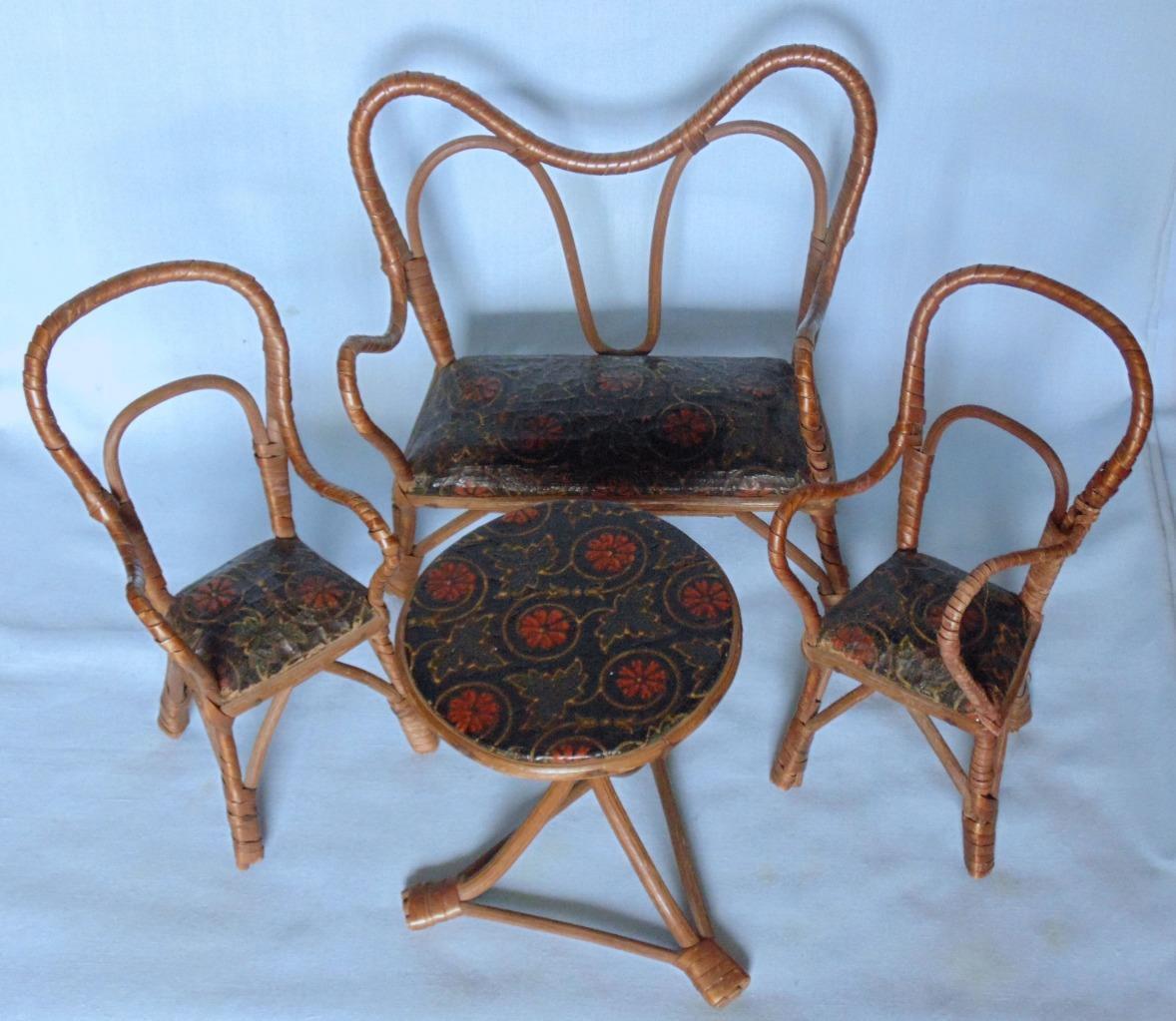 Jahr 1900 SET OF LARGE DOLLS haus LIVING ROOM Möbel