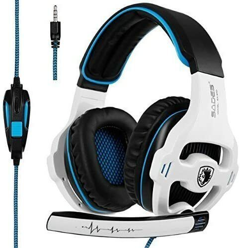 SADES SA810 New Updated Xbox One mic PS4 Headset Over Ear Stereo Gaming Headset